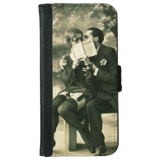 Lovers Secrets Sexy Vintage Pin-Up Couple Love iPhone 6 Wallet Case