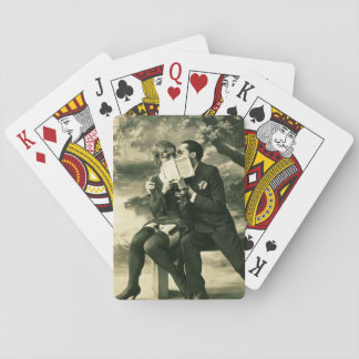 Lovers Secrets Sexy Vintage Pin-Up Couple Love Playing Cards