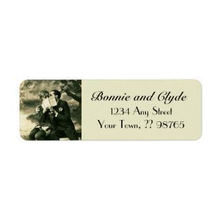 Lovers Secrets Sexy Vintage Pin-Up Wedding Couple Return Address Label