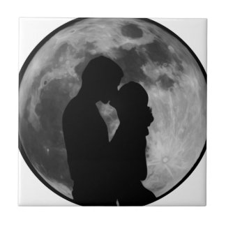 Lovers Silhouette Tile
