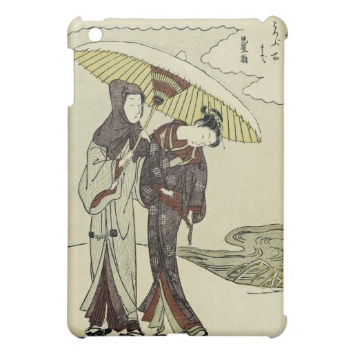 Lovers Under an Umbrella Case For The iPad Mini