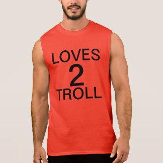 loves 2 troll sleeveless shirt