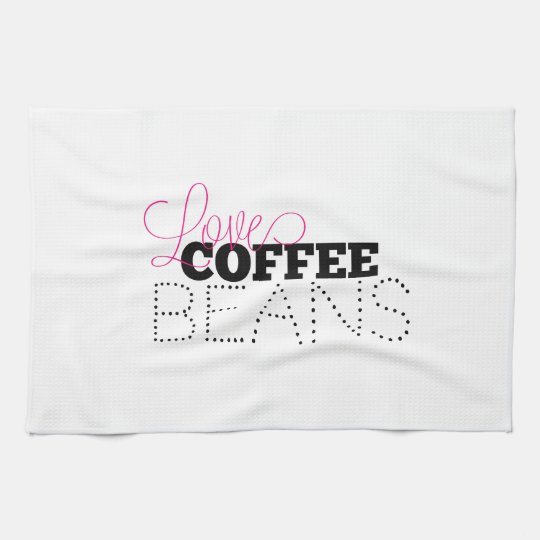Loves Coffee Beans Towel