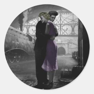 Love's Departure Round Sticker