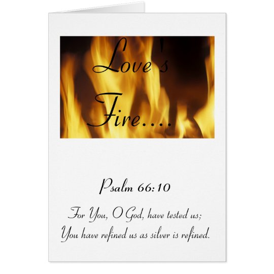 Love's Fire - Happy Valentines Day Card
