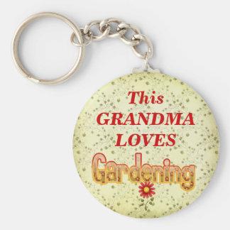 Loves Gardening Keychain