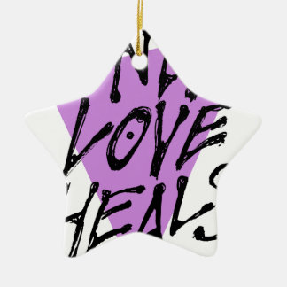 LOVES-HEAL CERAMIC ORNAMENT
