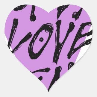 LOVES-HEAL HEART STICKER