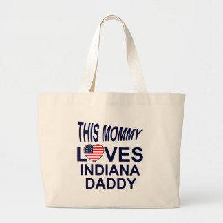 loves Indiana daddy Large Tote Bag