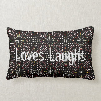 Loves Laughs Lumbar Pillow