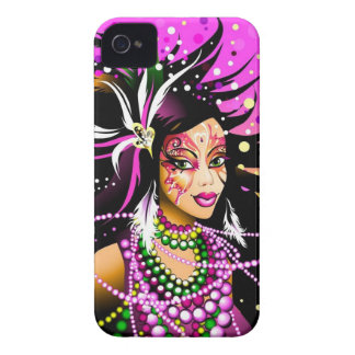 Loves Mardi Gras iPhone 4 Case