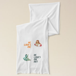 """Loves Me… Loves Me Not…"" Jersey Scarf"