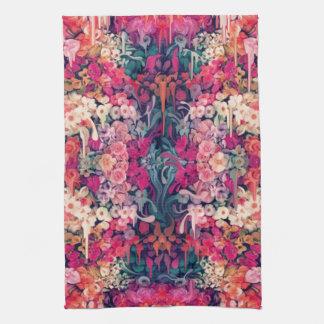 Loves me Maybe, melting floral pattern Kitchen Towel