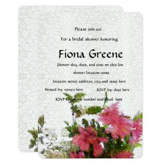 Love's Pink Azalea bridal shower invitation lace