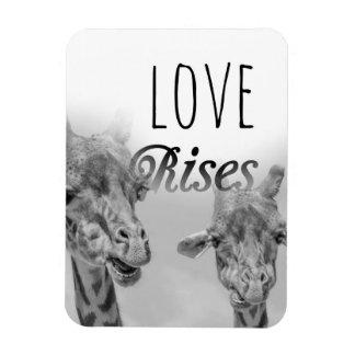 Loves Rises   Cute Giraffe Animal Magnet