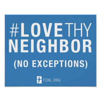 #LoveThyNeighbor Poster