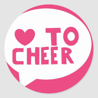 lovetocheer classic round sticker