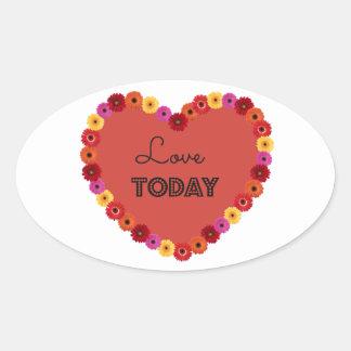 Lovetoday Oval Sticker