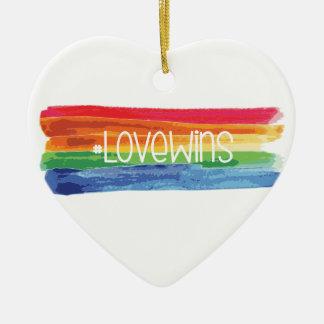 #LoveWins Ceramic Ornament