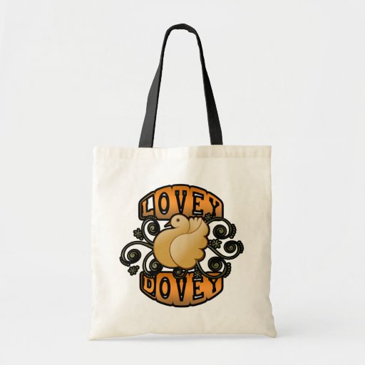 Lovey Dovey! Tote Bags
