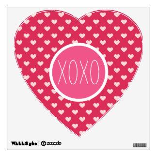 Lovey Love Hearts XOXO Wall Decal