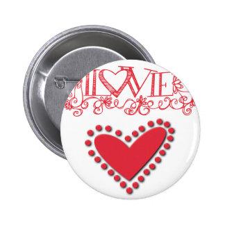 lovie 2 inch round button