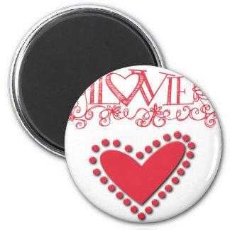lovie 2 inch round magnet