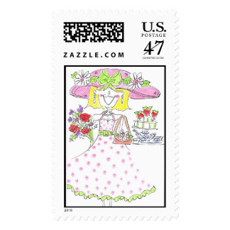Lovie and Dodge Luncheon Lady Postage