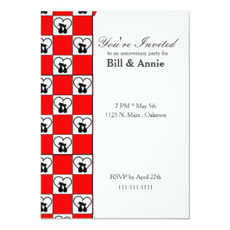 Lovie Black Cats Heart Red and Black Card