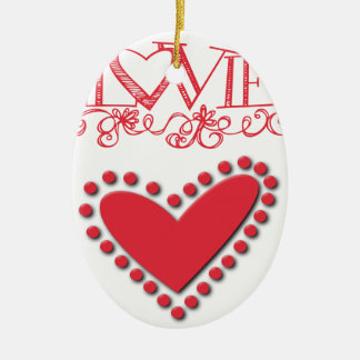lovie ceramic oval ornament