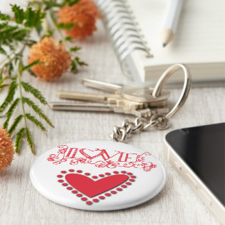 Lovie key-ring basic round button keychain