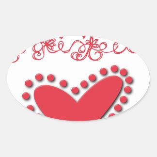 lovie oval sticker