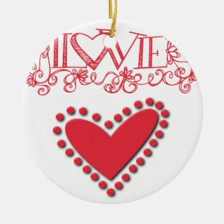 lovie round ceramic ornament