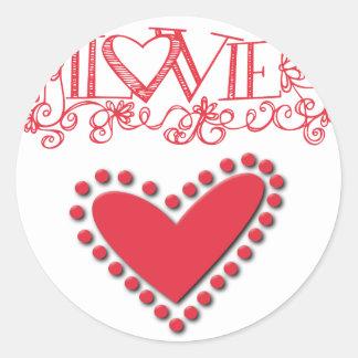 lovie round sticker