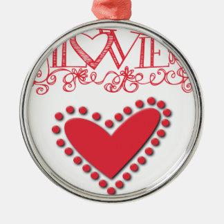 lovie Silver-Colored round ornament