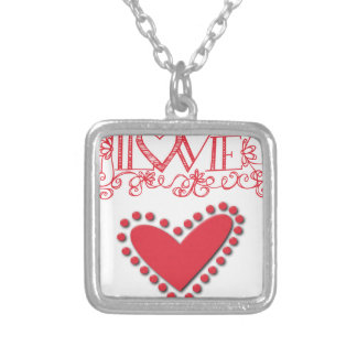 lovie silver plated necklace