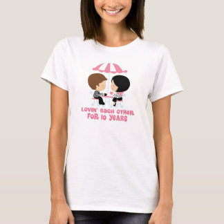 Lovin Each Other For 10 Years Anniversary T-Shirt