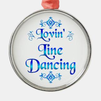 Lovin Line Dancing Metal Ornament