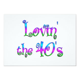 "Lovin the 40s 5"" x 7"" invitation card"