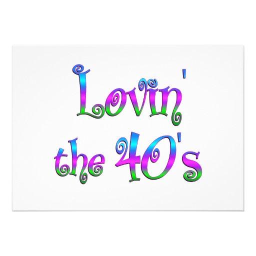 Lovin the 40s invites