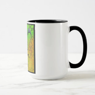 """LOVING BIRDS OF A FEATHER"" 15 OZ. RINGER MUG"