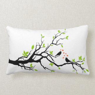 Loving Birds on Branch Lumbar Pillow
