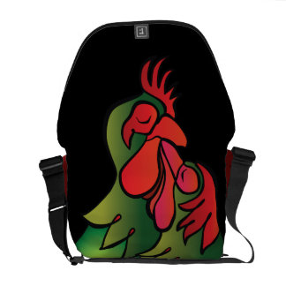 Loving Chickens, Practical, Funny Valentin's Gift Courier Bag