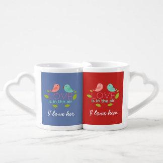 Loving couple coffee mug set
