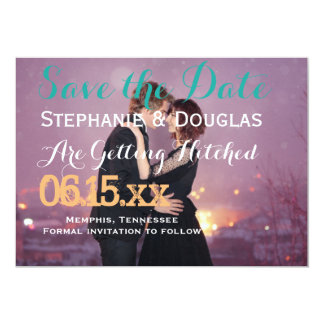 """Loving couple dancing in the night city 5"""" x 7"""" invitation card"""