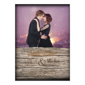 Loving couple dancing in the night city/Wedding Card