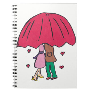 Loving Couple Notepad Spiral Notebook
