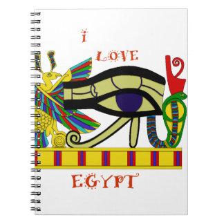 Loving Egypt Spiral Notebook