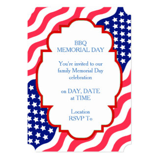 Loving Freedom Memorial Day Party Invitations