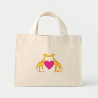 Loving Giraffes Mini Tote Bag